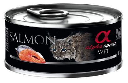 Alpha Spirit Nourriture Humide Pour Chats À Base De Saumon 85 Gr
