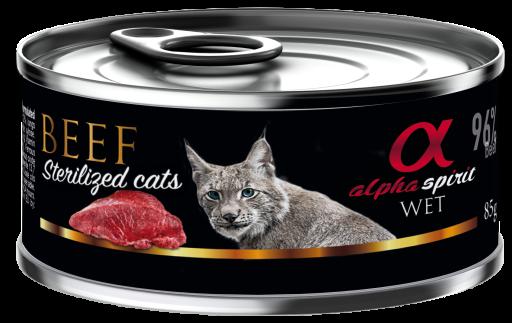 Comida Húmeda para Gatos Esterilizados de Buey