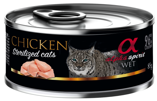 Comida Húmeda para Gatos Esterilizados de Pollo