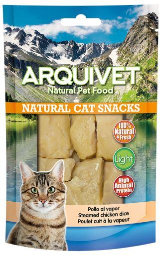 Snack Natural para Gatos de Pollo al Vapor