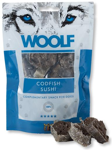 Snack pour Chiens de Sushi de Morue 100 gr Woolf