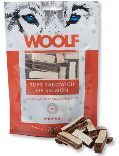 Snack pour Chiens de Sandwich de Saumon 100 gr Woolf