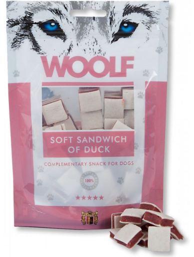 Snack pour Chiens de Sandwich de Canard 100 gr Woolf