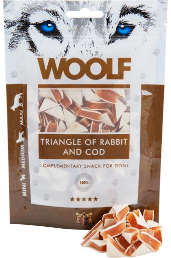 Snack pour Chiens Triangles de Lapin et Morue 100 gr Woolf