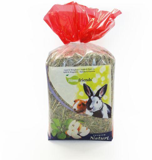 Foin Naturel avec Pomme et Grand plantain pour Rongeurs 500 GR Home