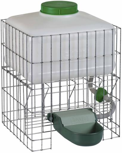 Automatic Concrete Dog Food Bowl with Grid Protector