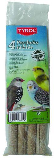 Perchas con Arena para Pájaros