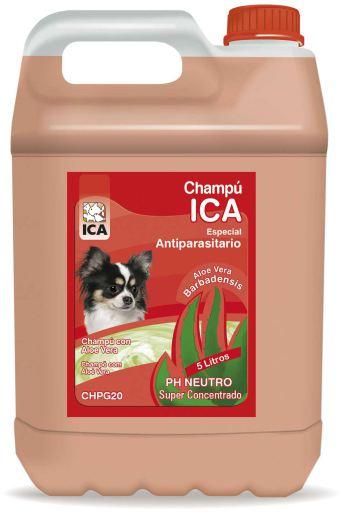 Shampoing Antiparasitaire 5Lt Aloe 5.35 kg Ica