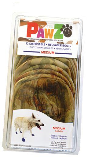 Bottes pour Chiens Camuflage L (12Bottes) 4.54 gr Pawz dog