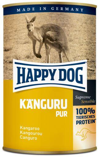12x400 GR Happy Dog Nourriture Humide pour Chiens Pure en Kangourou