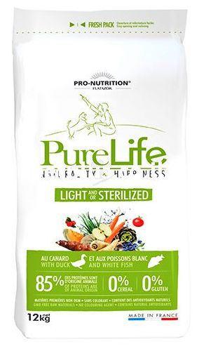 Nourriture pour Chiens Pure Life Chien Light/Sterilized 12 KG Flatazor