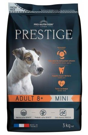 Nourriture pour Chiens Prestige Prestige Adult 8+ Mini 3 Kg Flatazor