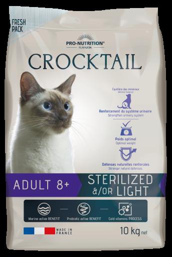 Flatazor Nourriture Pour Chats Crocktail Adult 8+ Stérilisé/light 2 Kg