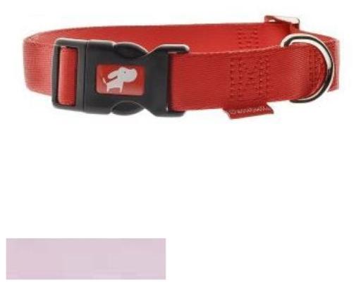 Collier spécial réglable en nylon rose clair 40-55cm x 20mm