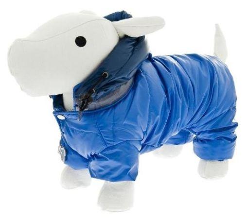 Manteau en duvet pour chien bleu 33 cm Ferribiella