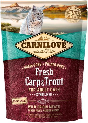 Stériliser frais carpe et truite 2 KG Carnilove
