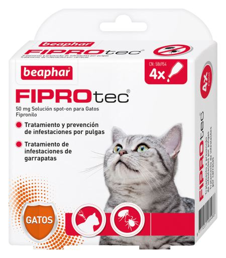 Pipettes pour chats Fiprotec 4 pipetas Beaphar