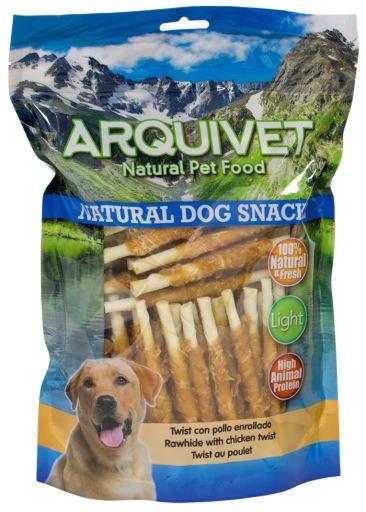 Poulet roulé Twist snacks pour chiens 1.15 kg Arquivet