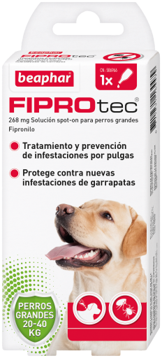 Spot On 20 To 40 Kg 1 Pipette 20 ml Fiprotec