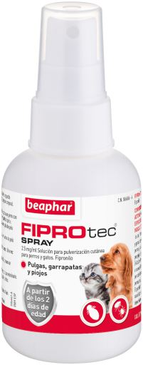 Vaporiser 4 pipettes Chiens et chats 100 ml Fiprotec