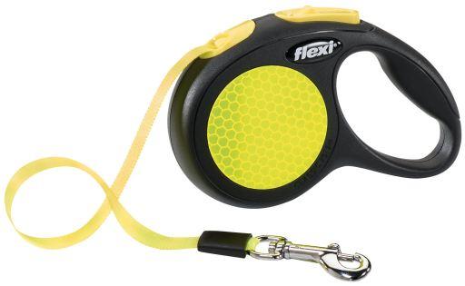 Laisse classique Neon Reflect Yellow M Flexi