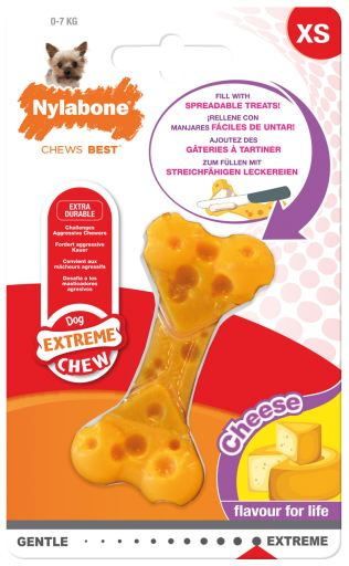Hard Cheese Bone Dog Chew M Nylabone