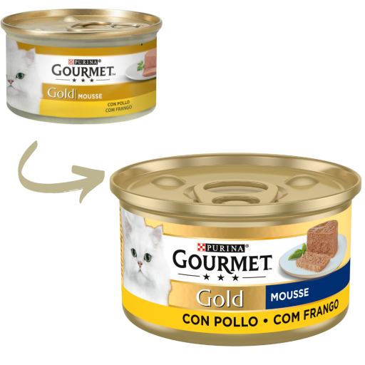 Gold Mousse con Pollo
