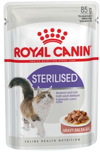 12x85 gr Royal Canin Sterilised Nourriture humide en sauce pour chat