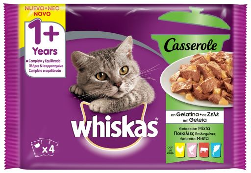 Whiskas Pack 4 Casserole 1 Seleccion Mixta