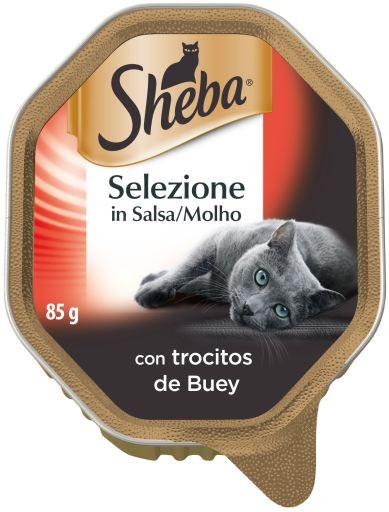 Selezione terrine Buey Sauce for Cats 85 gr Sheba