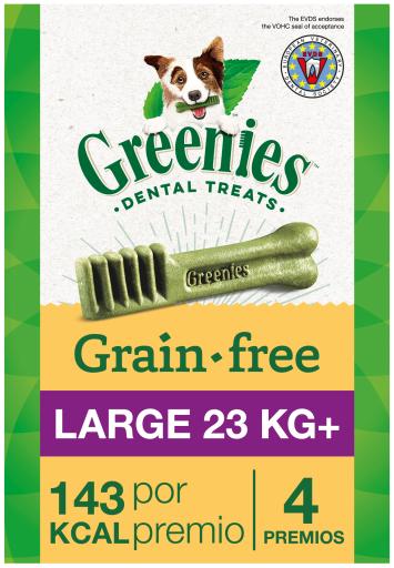 Snack dentaire sans grains naturels pour grands chiens 4 Bâtonnets