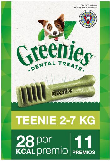 Snack dentaire naturel pour chiens jouets 11 Bâtons Greenies