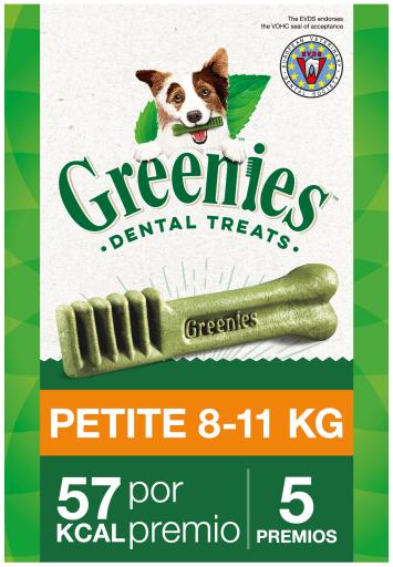 Snack dentaire naturel pour petits chiens 5 Bâtonnets Greenies