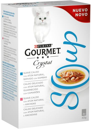 Crystal Soup Multipack : Thon et Anchois 4x40 gr Gourmet