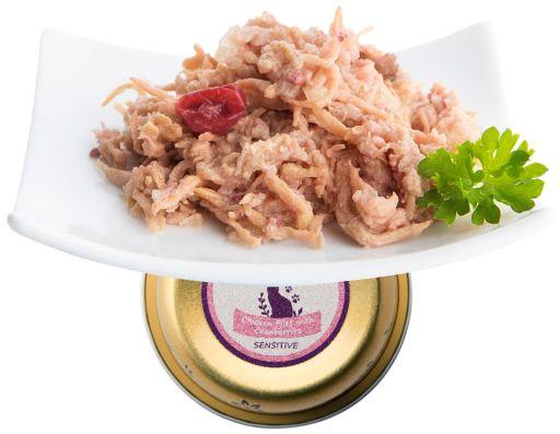 Terrine et Myrtilles sensibles poulet Filets 90 GR Nuevo