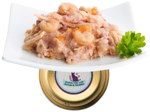 Terrine Filets de poulet tendres et crevettes 90 GR Nuevo