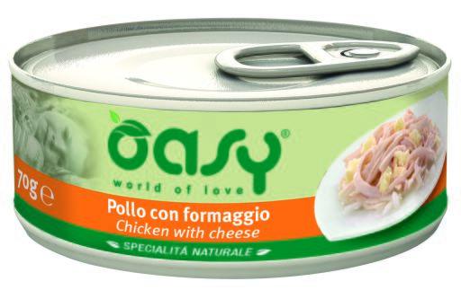 Boîte de poulet au fromage 70 GR Oasy