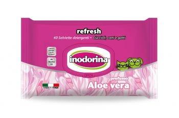 Lingettes Humides Refresh - Aloe Vera 40 Inodorina