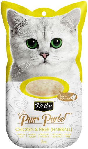 PurrPuree Pollo y Fibra Hairball Control 60 GR Kit Cat
