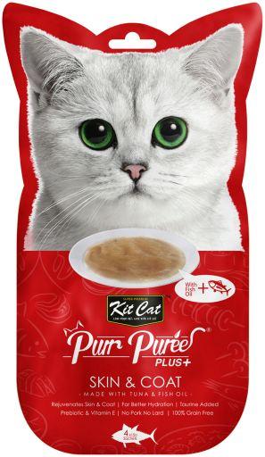 PurrPuree Plus Skin & Coat avec thon et huile de poisson 60 GR Kit Cat