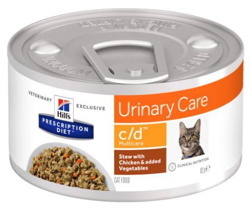 Prescription Diet Feline C / d Multicare Poulet et légumes 82 GR