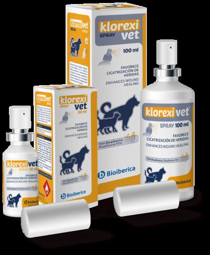 Klorexivet Le spray désinfecte et protège la peau 100 ml Bioiberica