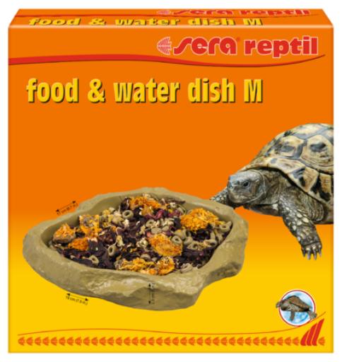 Mangeoire pour reptiles Plat et abreuvoir M Sera