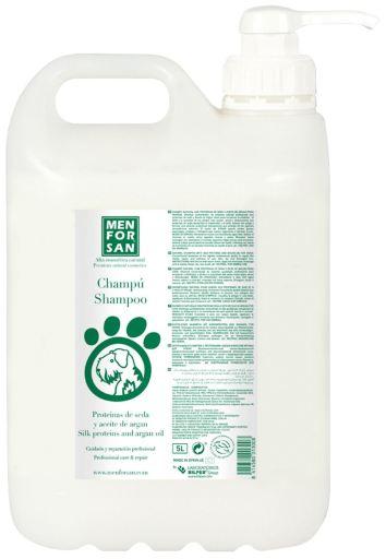 Shampooing protéines de soie et de l'huile d'argan 5 L Men For San