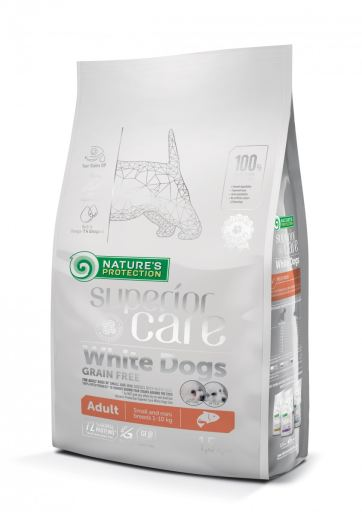 White Dog Adult Small Salmon 10 KG Nature's Protection