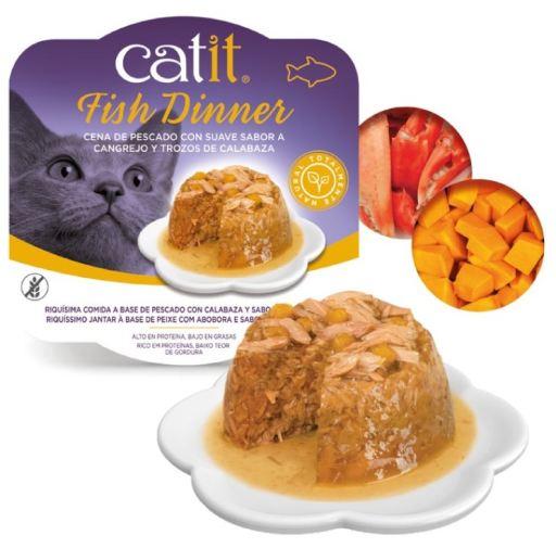 Poisson Dinner Crabe et Courge 100 gr Catit