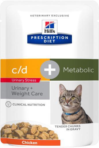 Prescription Diet Feline w / j urinaire + métabolique 12x85 gr Hill's