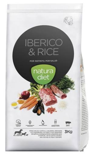 Iberico & Rice pour chiens 3 Kg Natura Diet