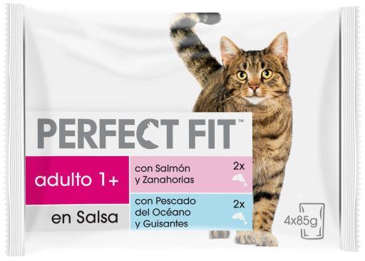 Nourriture humide pour chats de poisson et de légumes 4x85 gr