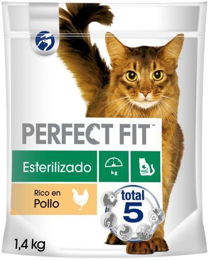Nourriture pour chats stérilisés Saveur de saumon 1.4 KG Perfect Fit